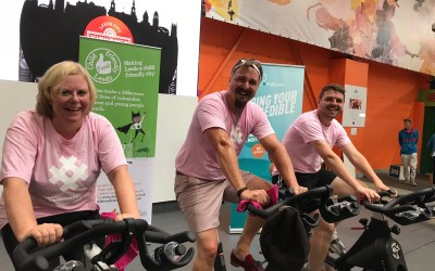 Swarcliffe cycling stars in charity Bikeathon