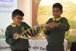 Schoolchildren at DNA