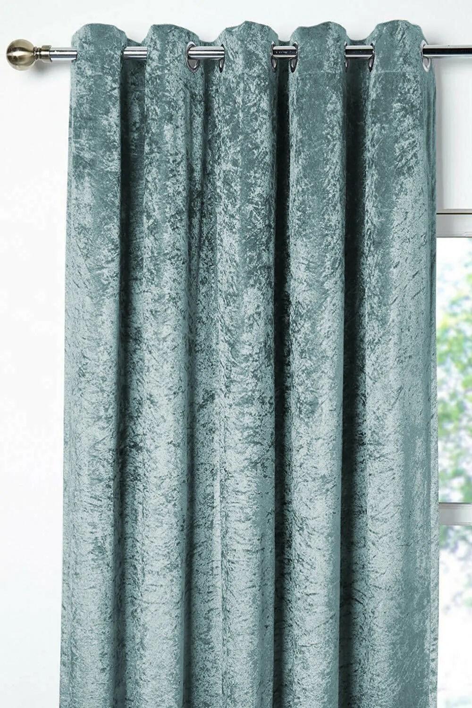 promo velvet black out curtains teal