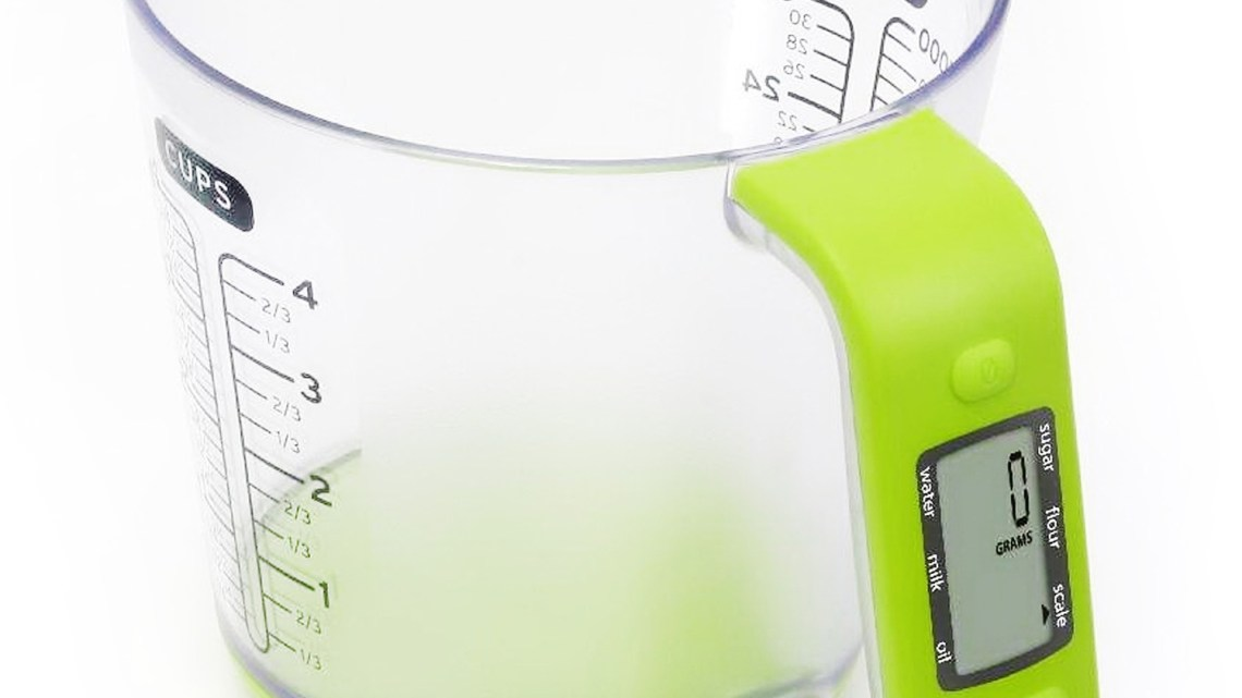 digital scales measuring jug