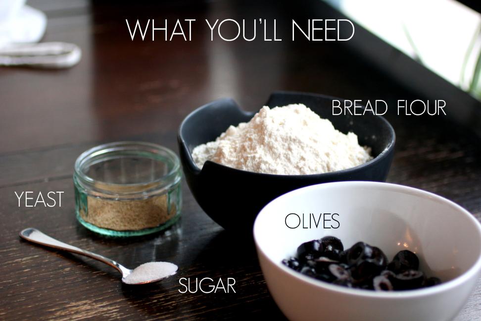 Olive Bread Ingredients