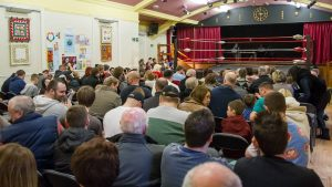 A restless crowd ready to watch the action - pic courtesy of Paul Glossop