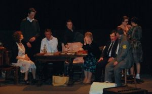 Dress rehearsal of the Diary of Anne Frank
