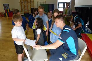 Children meeting Ash Handley