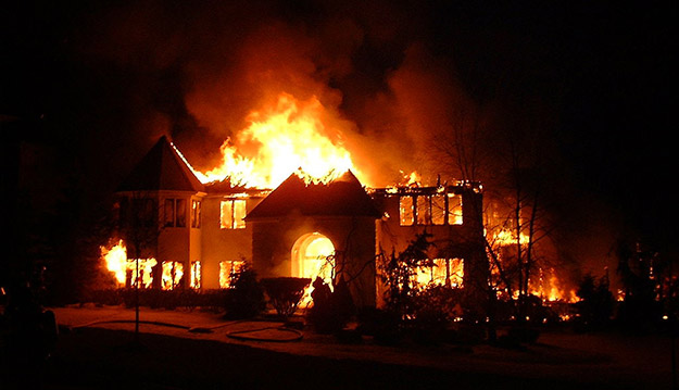 House fire. Image from Wikimedia Commons.