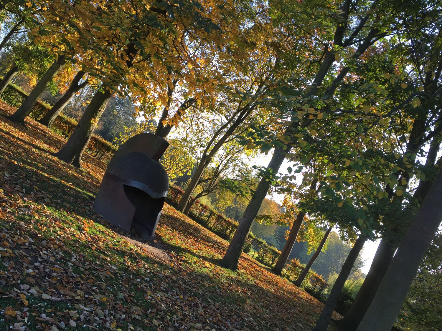 Autumn Colours - Rowntree Park - York - Viking Helmet