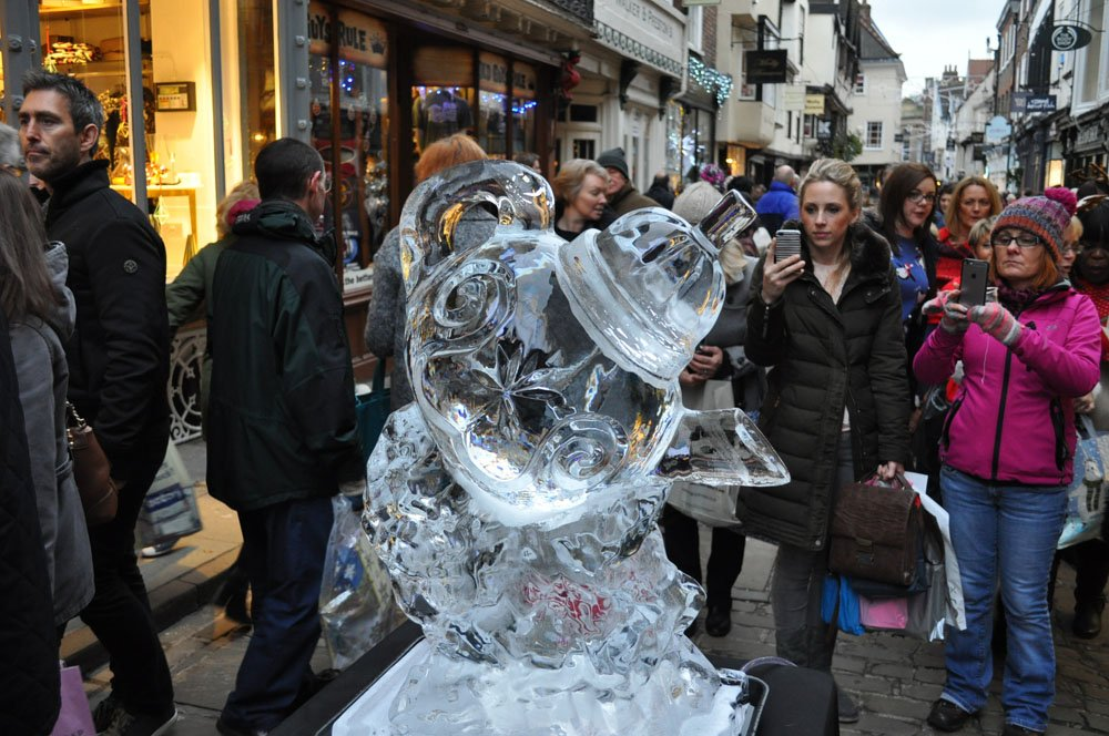 Ice Sculpture - Betty's Tearoom Tea Pot  - York