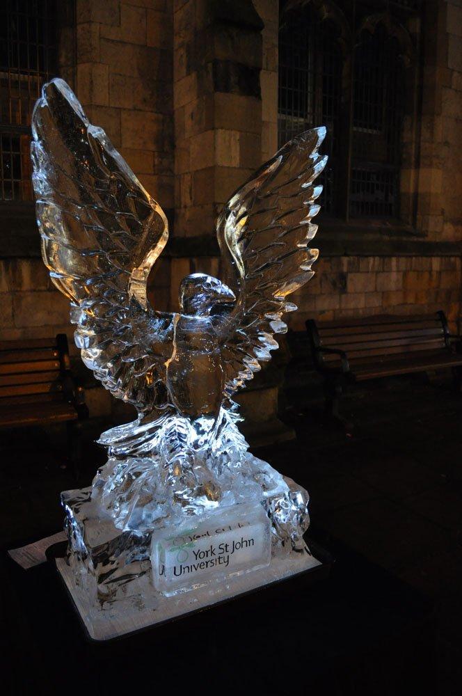 Ice Sculpture Eagle - York St John University York