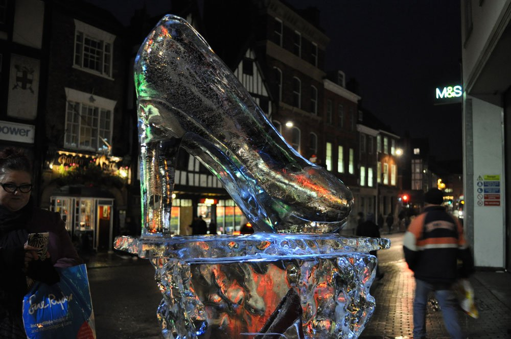 The Shoe - Ice Sculpture - The Shambles York