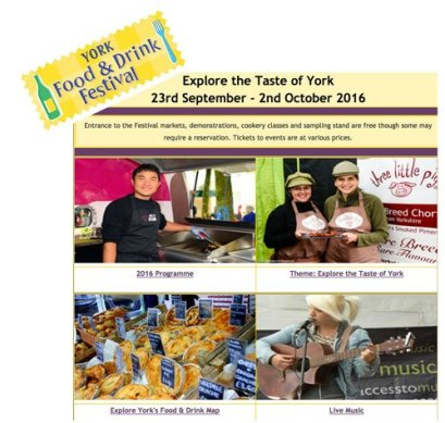 York food and drink festival 2016