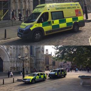 Police and Ambulance respondents go on scene to York Misnter