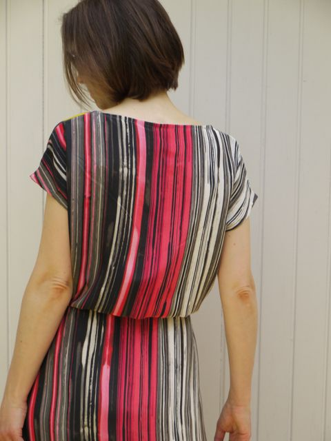 April Rhodes Staple maxi dress back view.