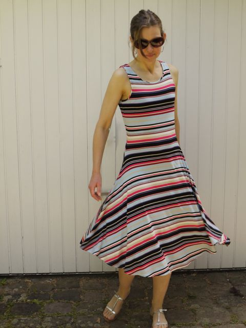 stripe jersey dress 1