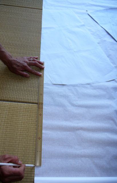 Measure and mark your desired maxi length onto the pattern paper.