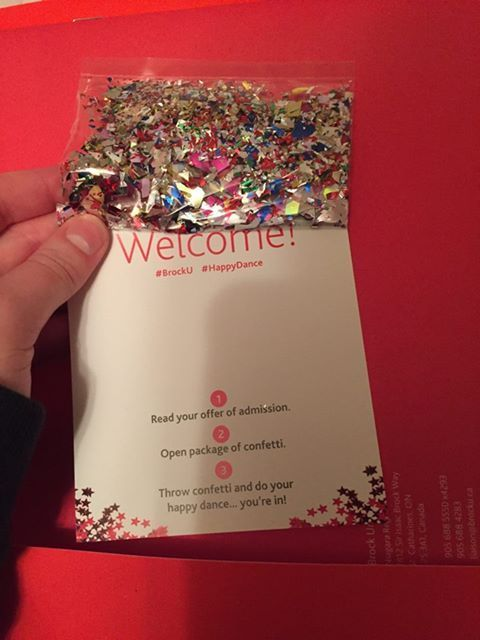 Image of welcome note with glitter