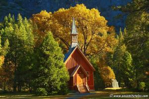 Autumn Chapel By Jeff Kreider Yosemite History-ing