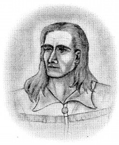 James D. Savage Drawn by Lloyd D. Moore, Ranger Naturalist