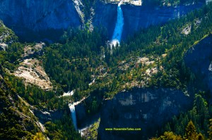 Vernal and Nevada Falls from Glacier Point