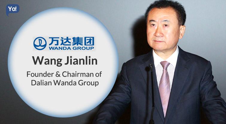 Image result for Property magnate Wang Jianlin of Dalian Wanda   images