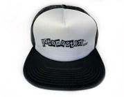 Yotamasters foam trucker hat. Black and white.