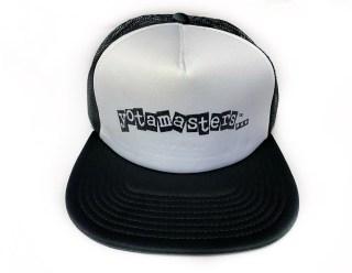 Yotamasters foam trucker hat. Black and white.