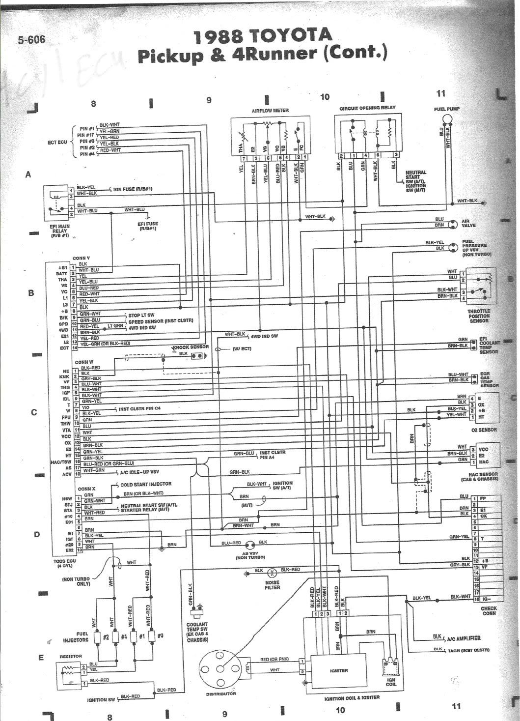 1988 toyota 22r engine wiring schematics wiring diagrams u2022 rh seniorlivinguniversity co 85 Toyota Pickup Wiring Diagram 1988 Toyota Pickup Wiring Diagram