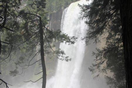 Bijna boven op de Vernal Falls