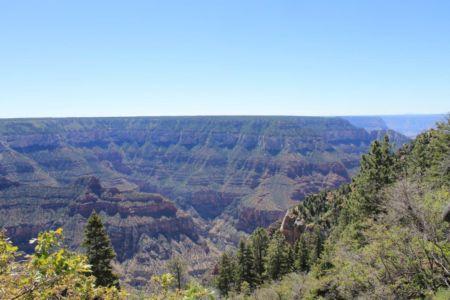 Geweldig uitzicht langs de Bright Angel Trail
