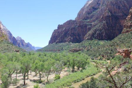 Uitzicht tijdens de Kayenta Trail