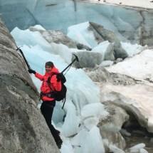 iceclimbing Wildspitze glacier