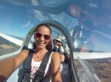glider ride fly selfie