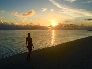 Maldives sunset beach