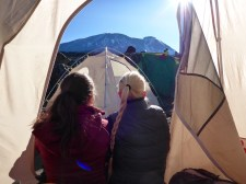 Outdoor women Kilimanjaro camping