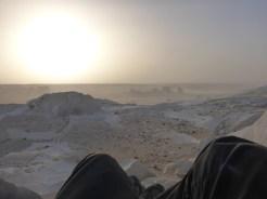 sunset desert white