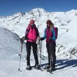 snowshoe hiking women