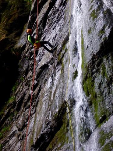 Canyoning waterfall Wunzenschlucht