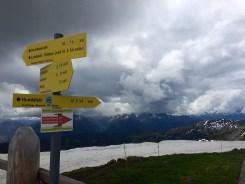 Signpost Hundstein Steinernes Meer Hochkaseralm