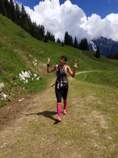 Trailrunning woman Salzburg