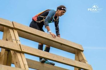 Wall climb Spartan woman