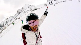 Snowboard slope Kaprun