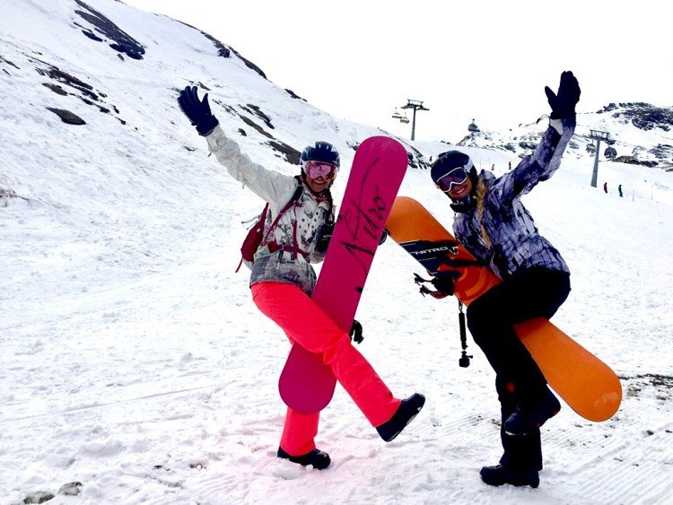 Snowboard fun Kitzsteinhorn adventuregirls