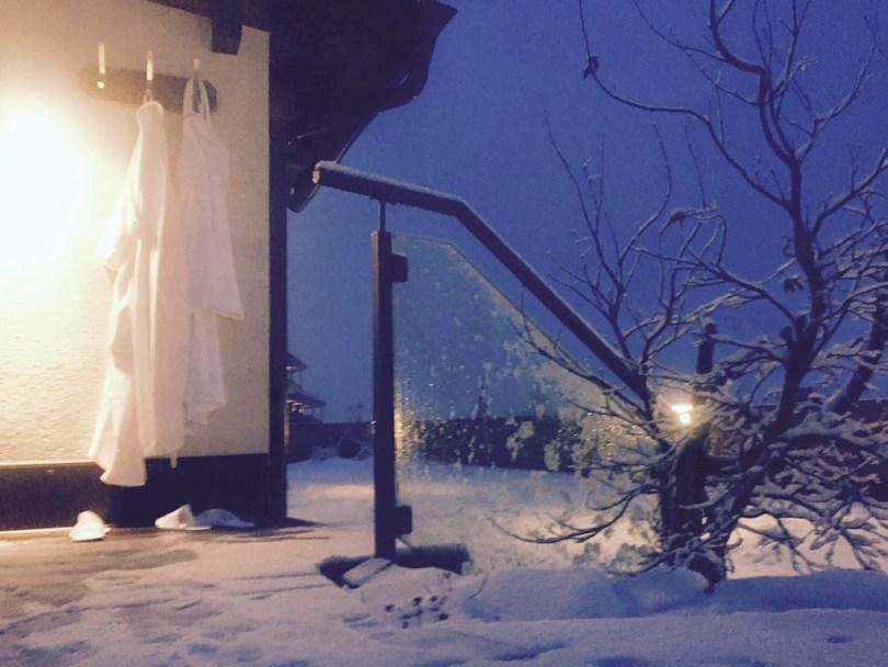 Sauna Klausnerhof snow