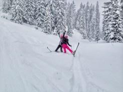 Powder skiing Hochkönig