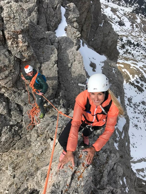 Climbing woman Sella