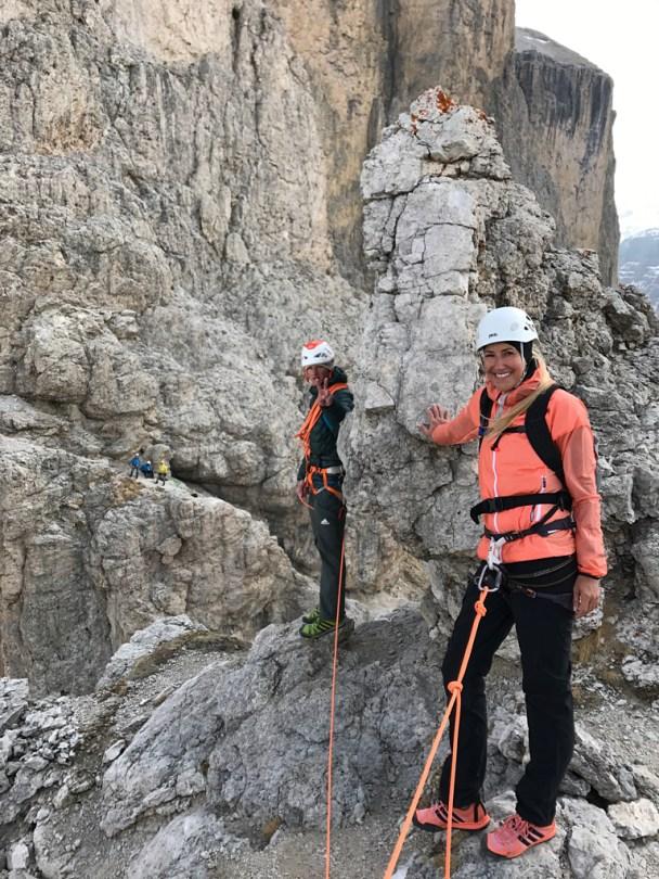Sella Prima Torre Summit Shooting climbing