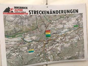 Route changes Innsbruck Alpine 2017