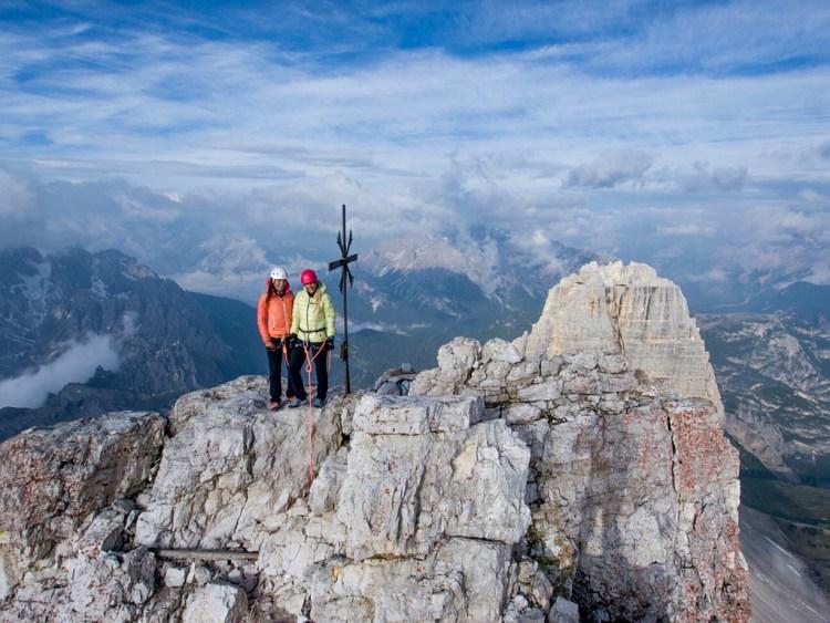 Summit cross Cima Grande top