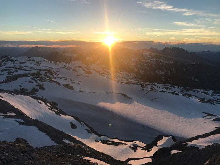 Sonnenuntergang Hochkönig Gipfel