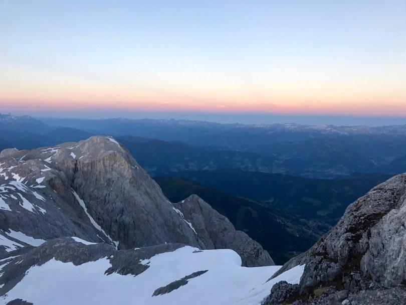 Sunset Hochkönig view