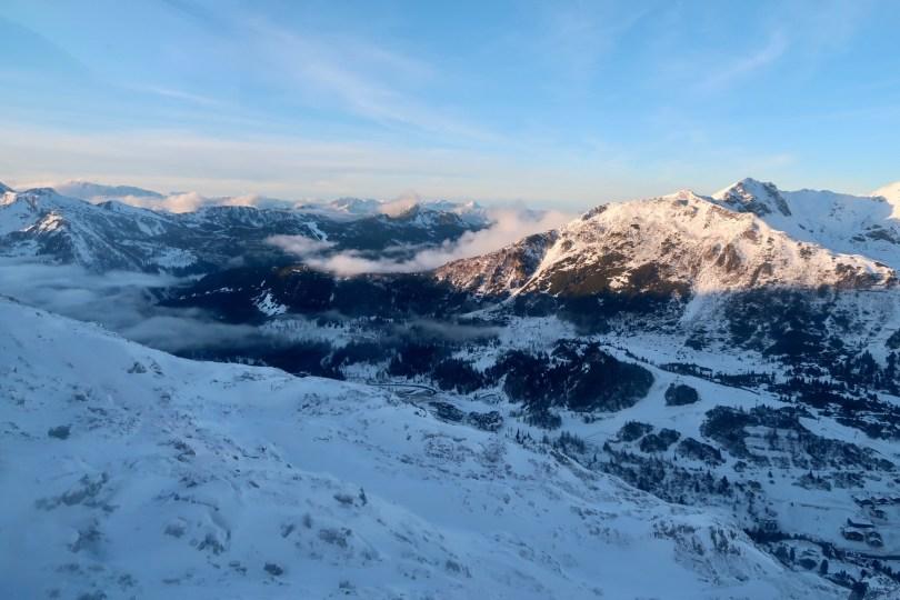 Obertauern view Radtstädter Tauern winter